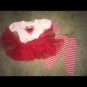 Haute Baby tutu set, striped capris